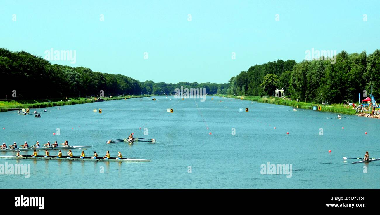 1930 Olympic Rowing Lake 2013 A.D. - Stock Image