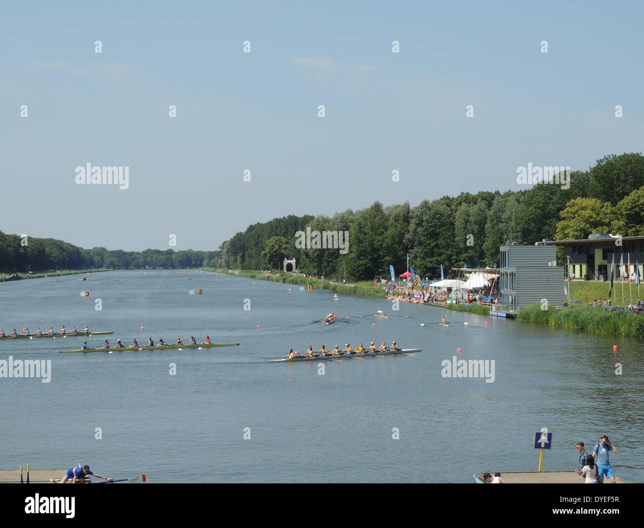 1931 Olympic Rowing Lake 2013 A.D. Stock Photo