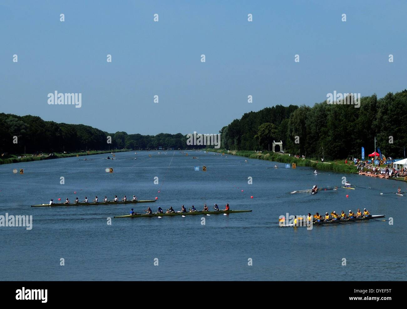 1932 Olympic Rowing Lake 2013 A.D. - Stock Image
