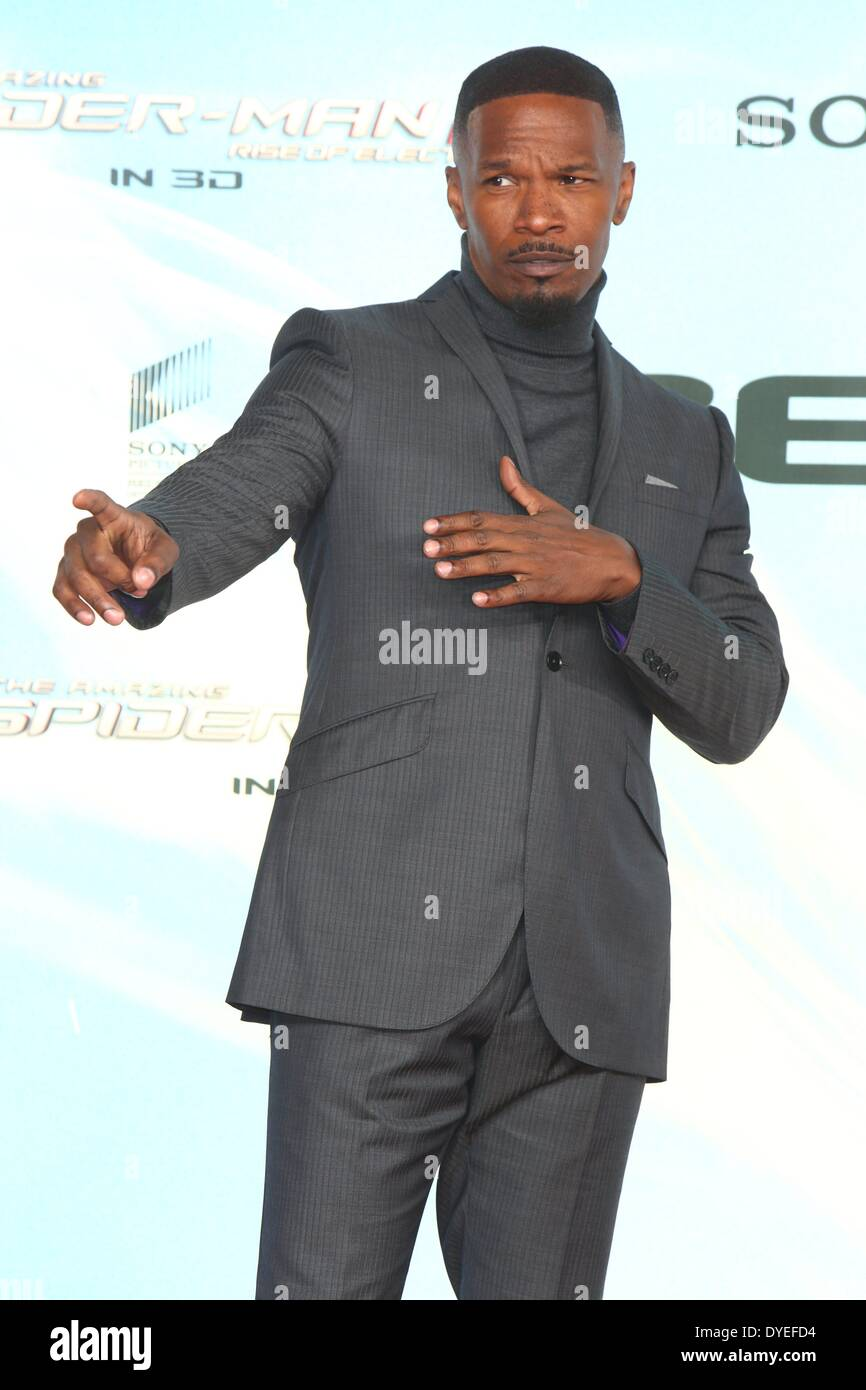 Berlin, Germany. 15th Apr, 2014. Jamie Foxx at the premiere of the movie 'The Amazing Spider-Man 2' at the Sony Center Theater in Berlin, Germany. On April 15, 2014. Credit:  dpa picture alliance/Alamy Live News - Stock Image