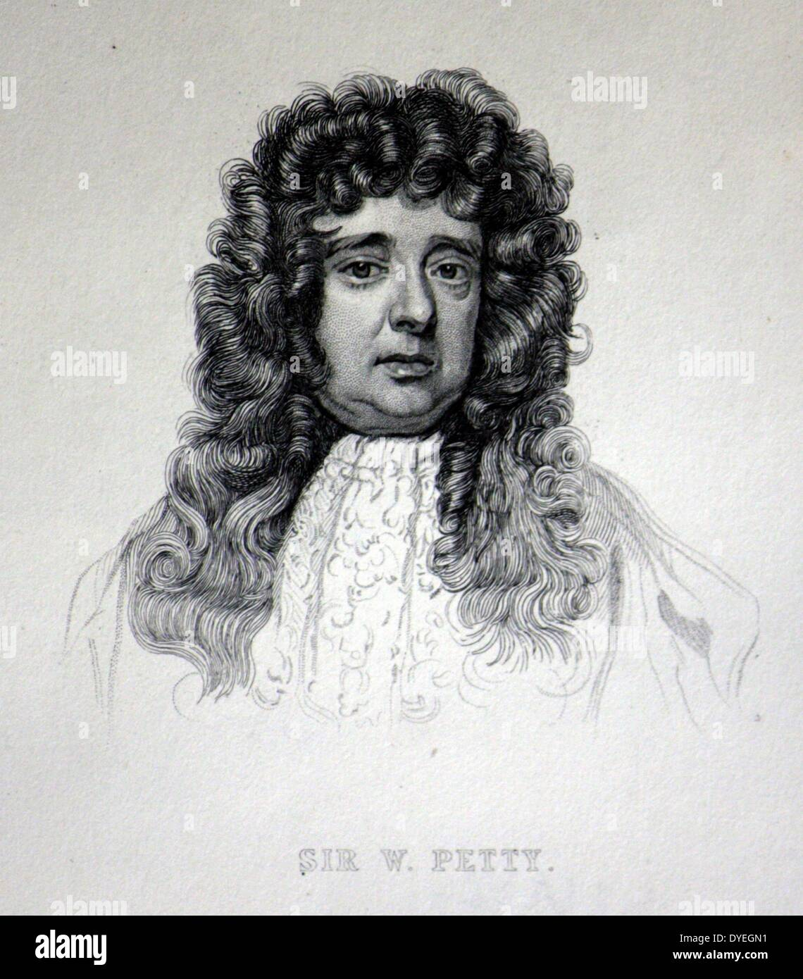 Sir William Petty (1623-1687 A.D.) - Stock Image