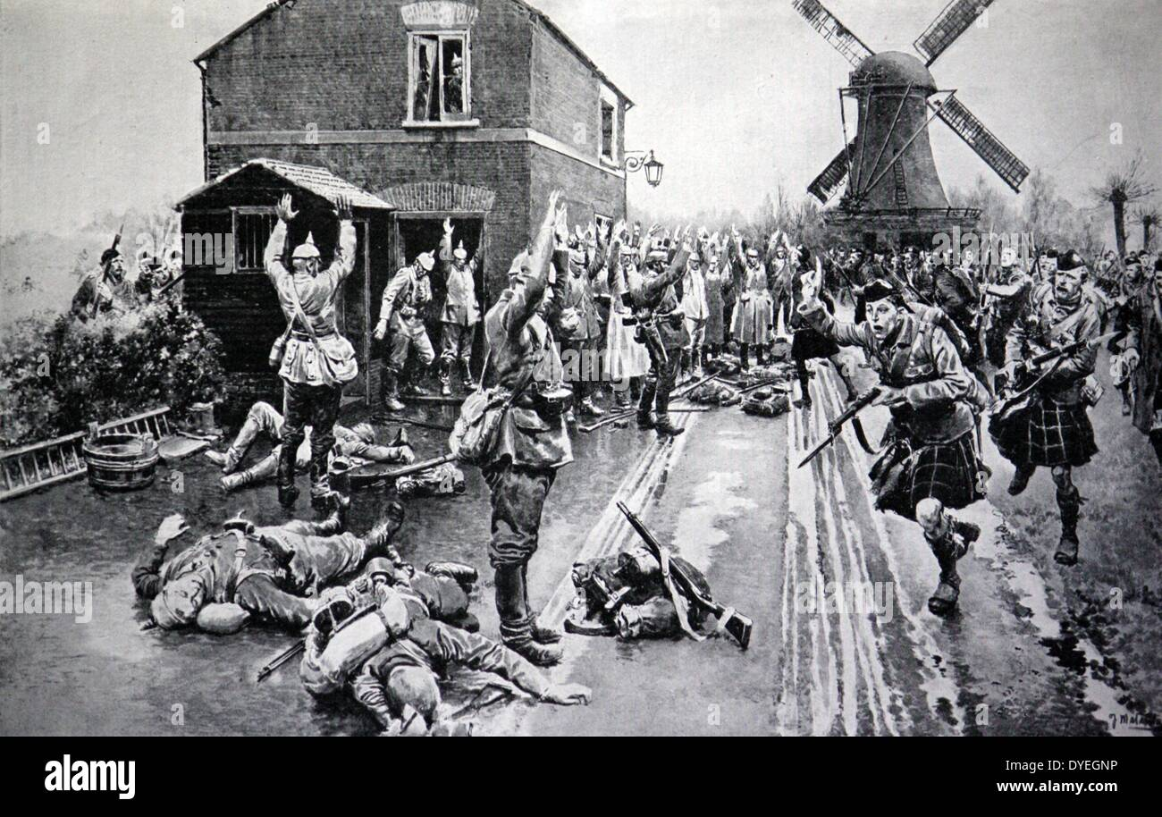 A party of Germans in discomfited by Cameron men - Stock Image