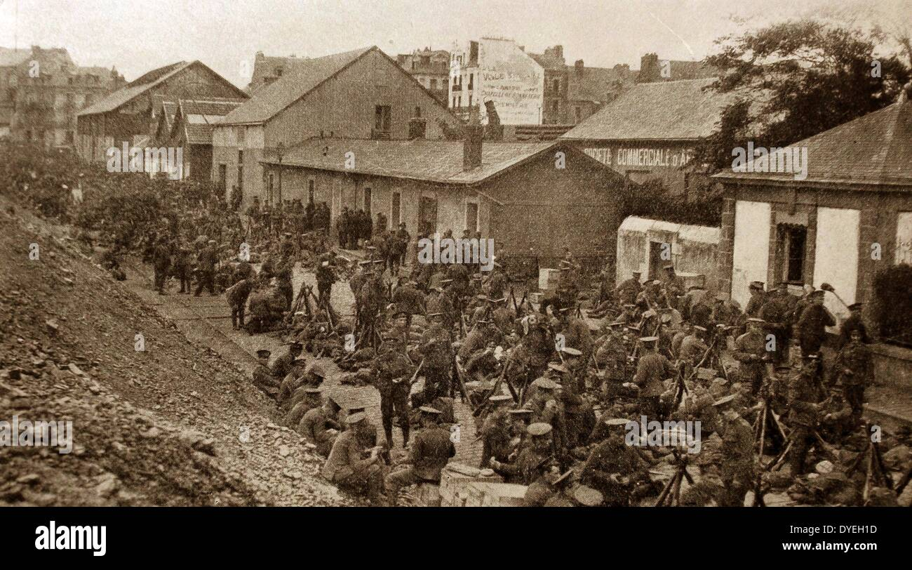 The British Expeditionary Force arrives in Belgium - Stock Image