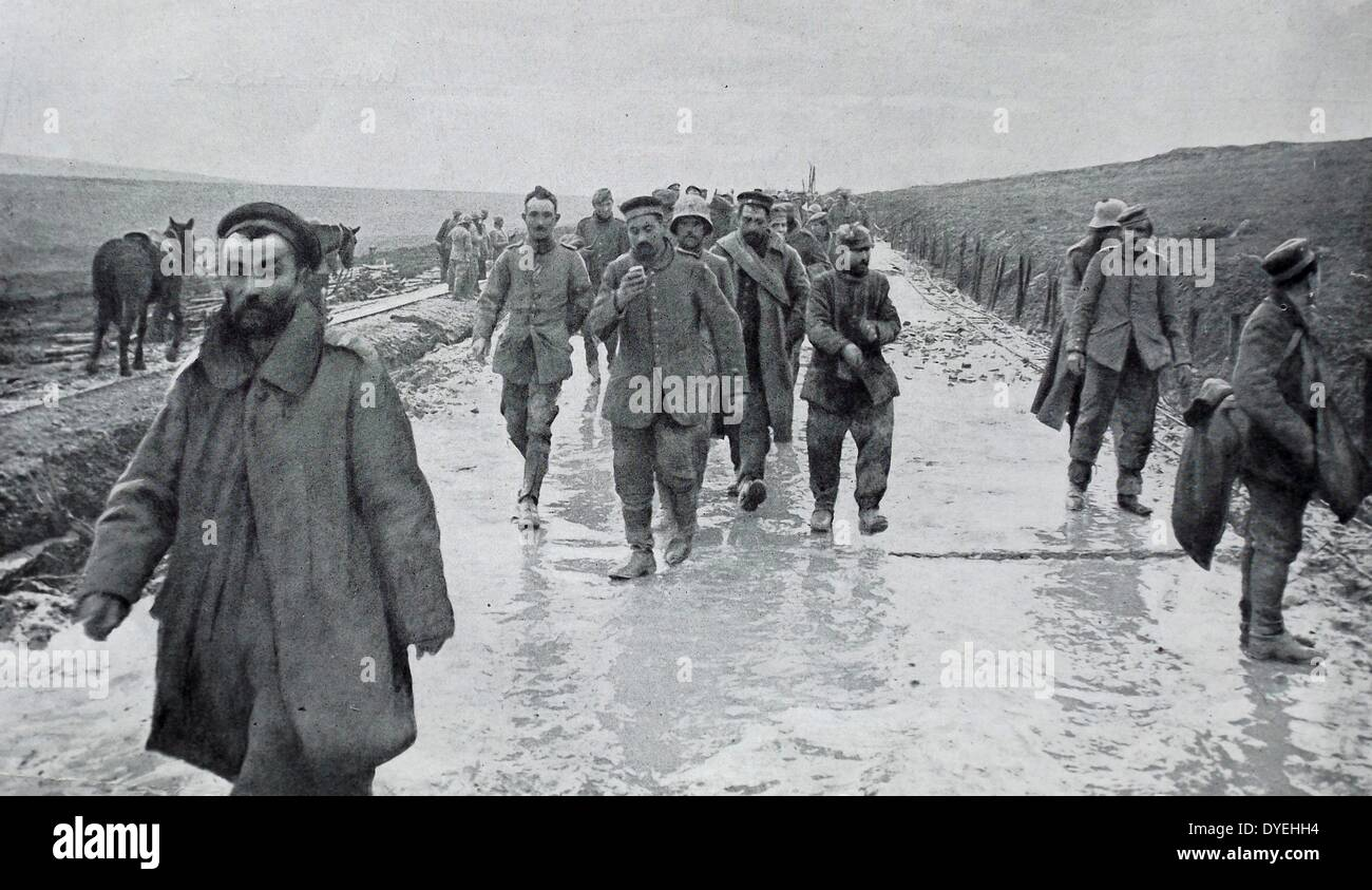 Group of german soldiers captured as prisoners of war Stock Photo