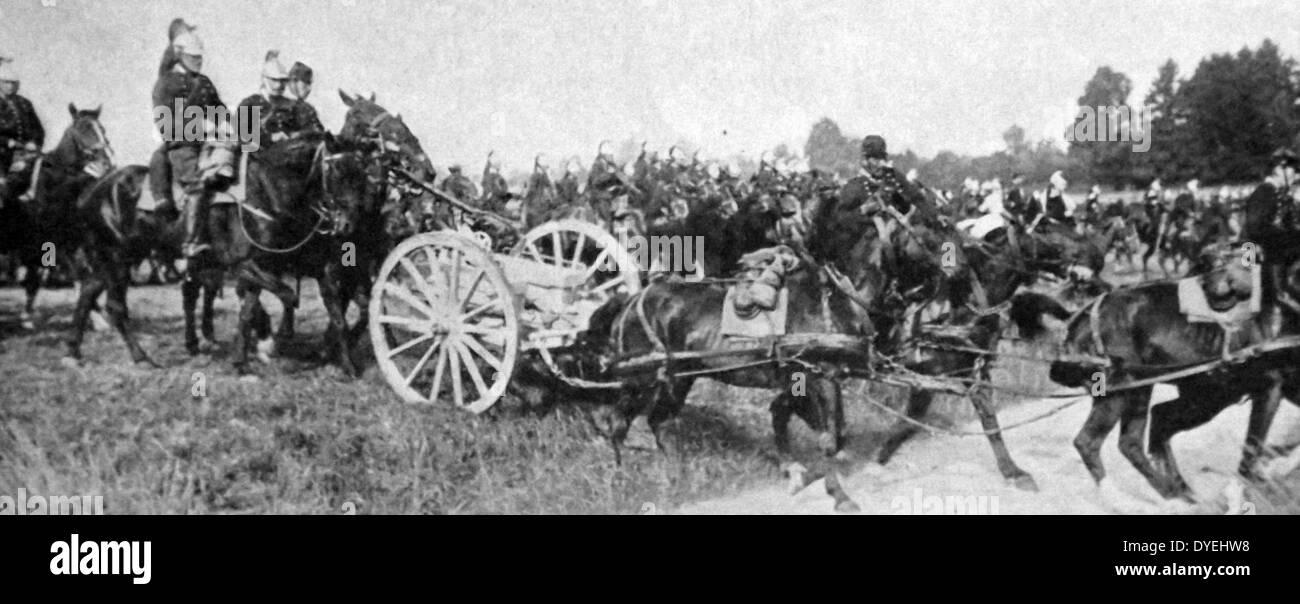 French cavalry during the preparations for battle - Stock Image
