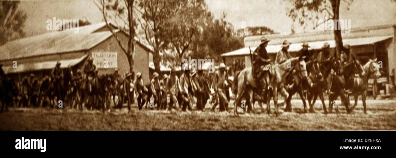 Rebel Afrikaner forces led by General Christian De Wet - Stock Image