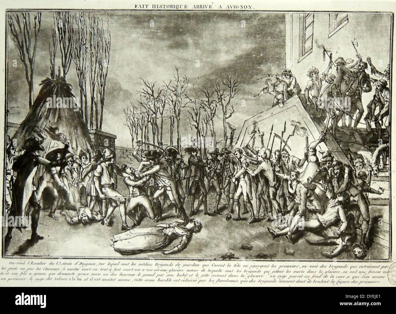 The bloody massacres of La Glacière that took place during 16–17 October 1791 - Stock Image
