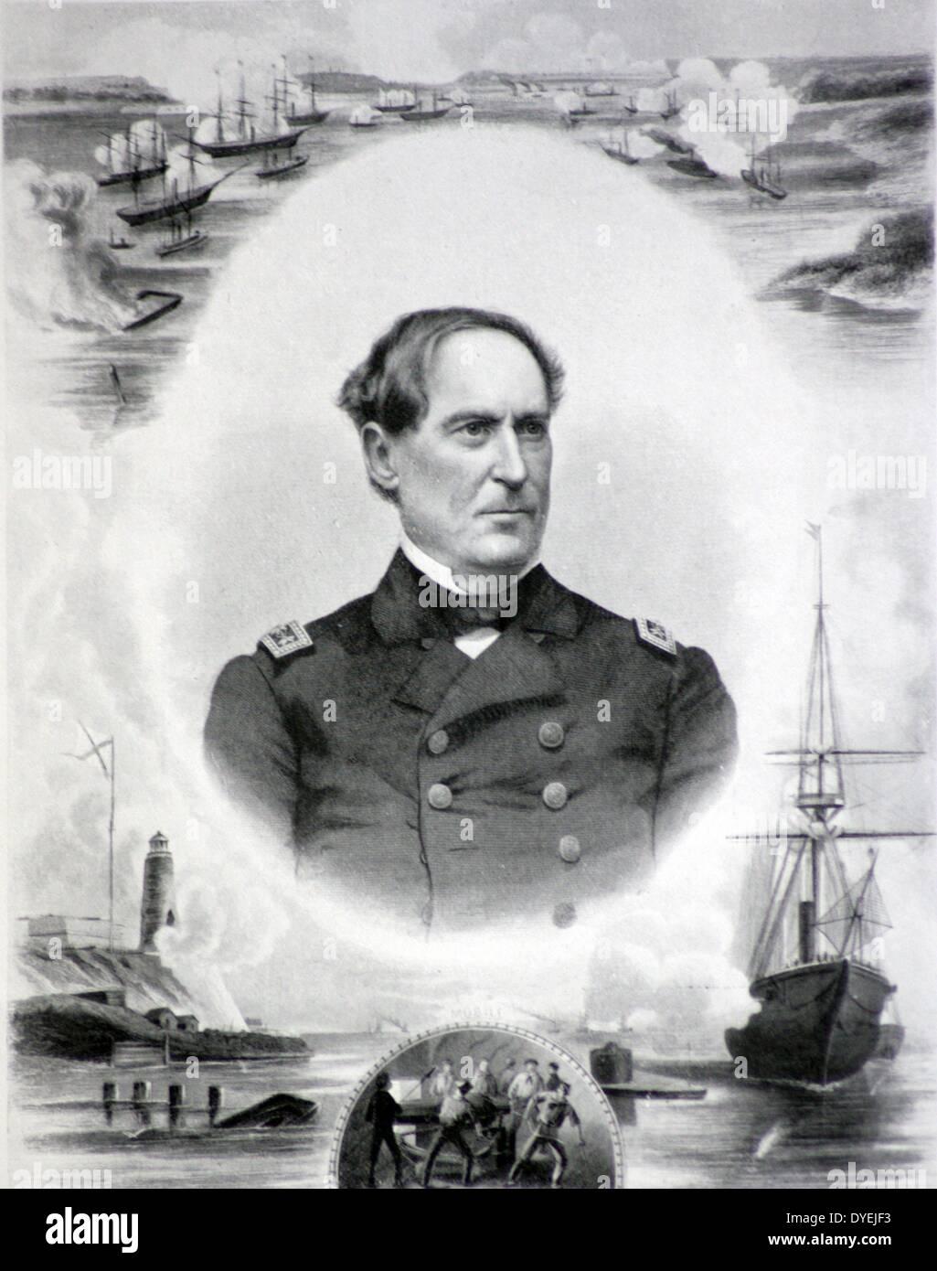 Admiral David G Farragut, U.S.N. (1801-1890) - Stock Image