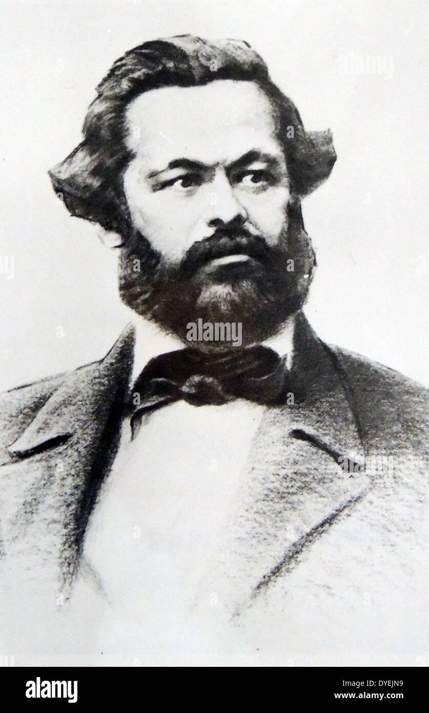 Portrait of Karl Marx - Stock Image