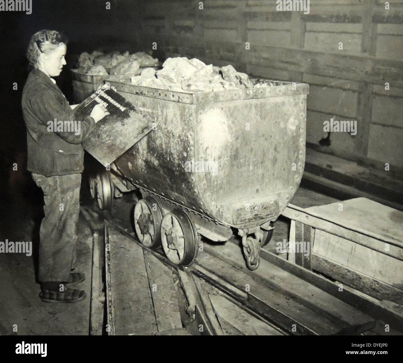 mining in france was revived under the Marshall plan in 1950. - Stock Image