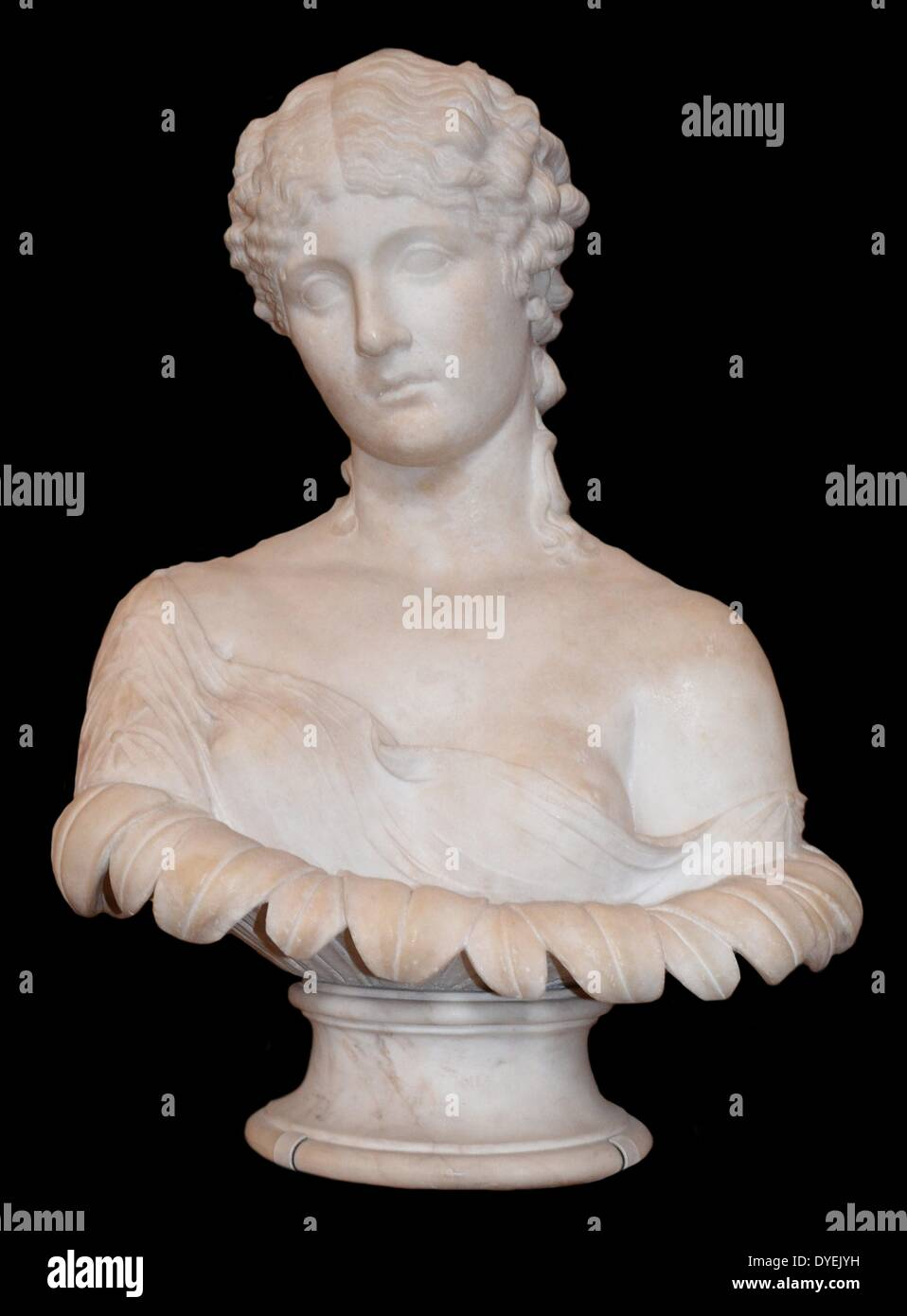 Marble Bust Portrait of Clytie 47 A.D. - Stock Image