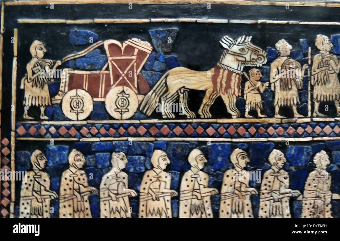 The Standard of Ur, 'War' 2400 B.C. - Stock Image