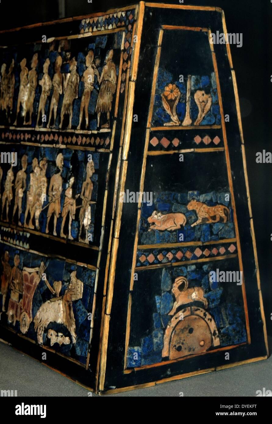 The Standard of Ur, 'Peace' 2400 B.C. - Stock Image