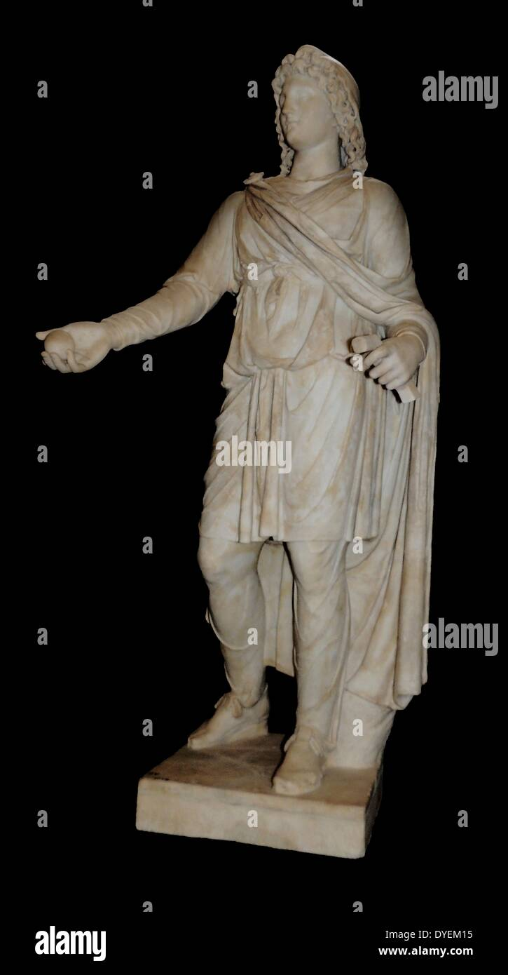 Statue of Paris of Troy 2nd Century A.D. - Stock Image
