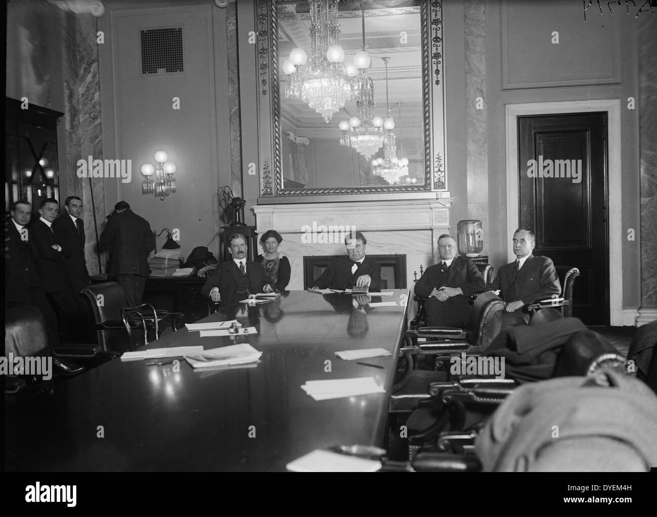 anti-communist red menace, a Senate Committee was appointed to investigate charges that the Russian Soviet Govt. had attempted - Stock Image