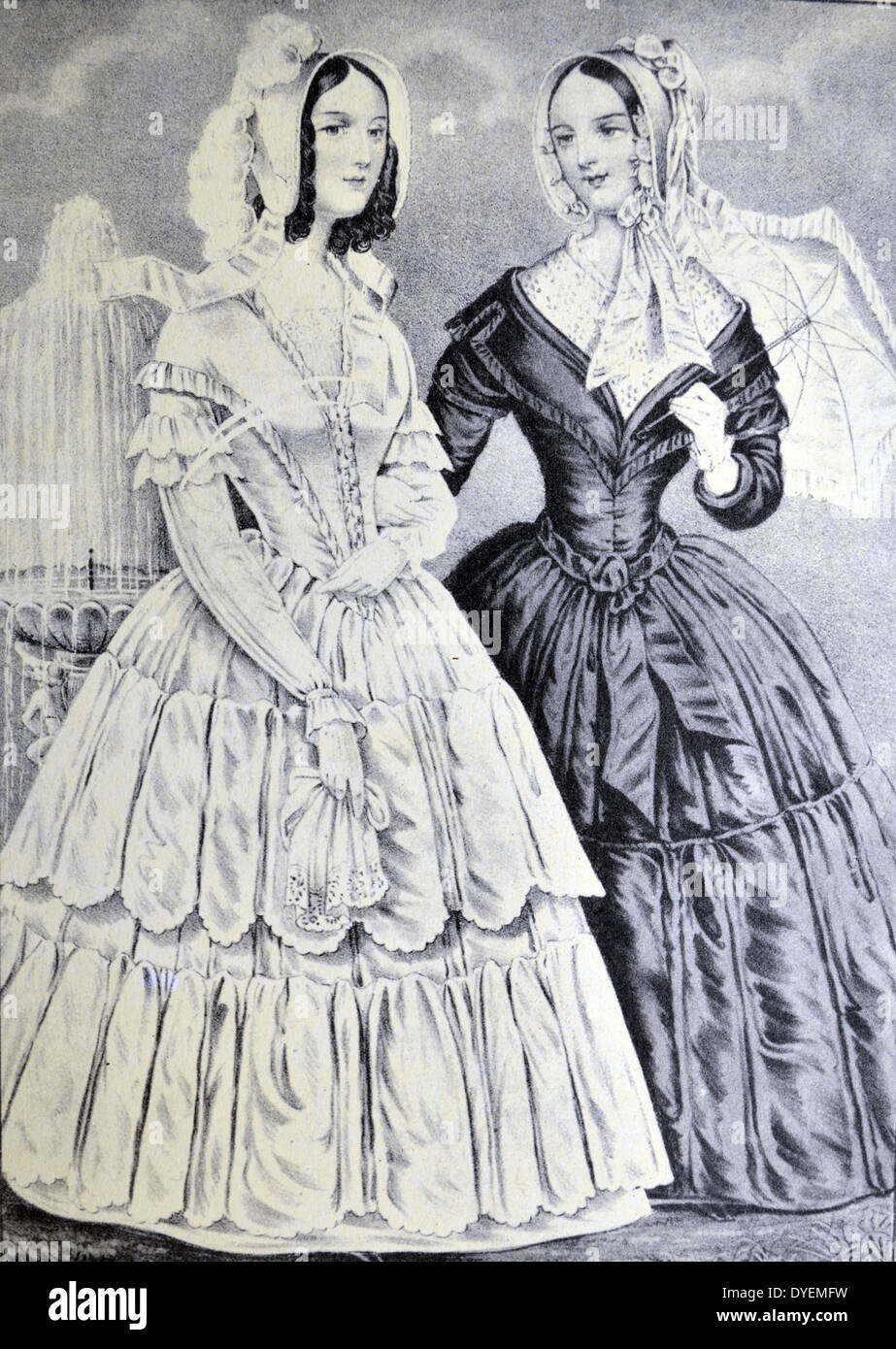 Currier & Ives Illustration 19th Century. The Sisters - Stock Image