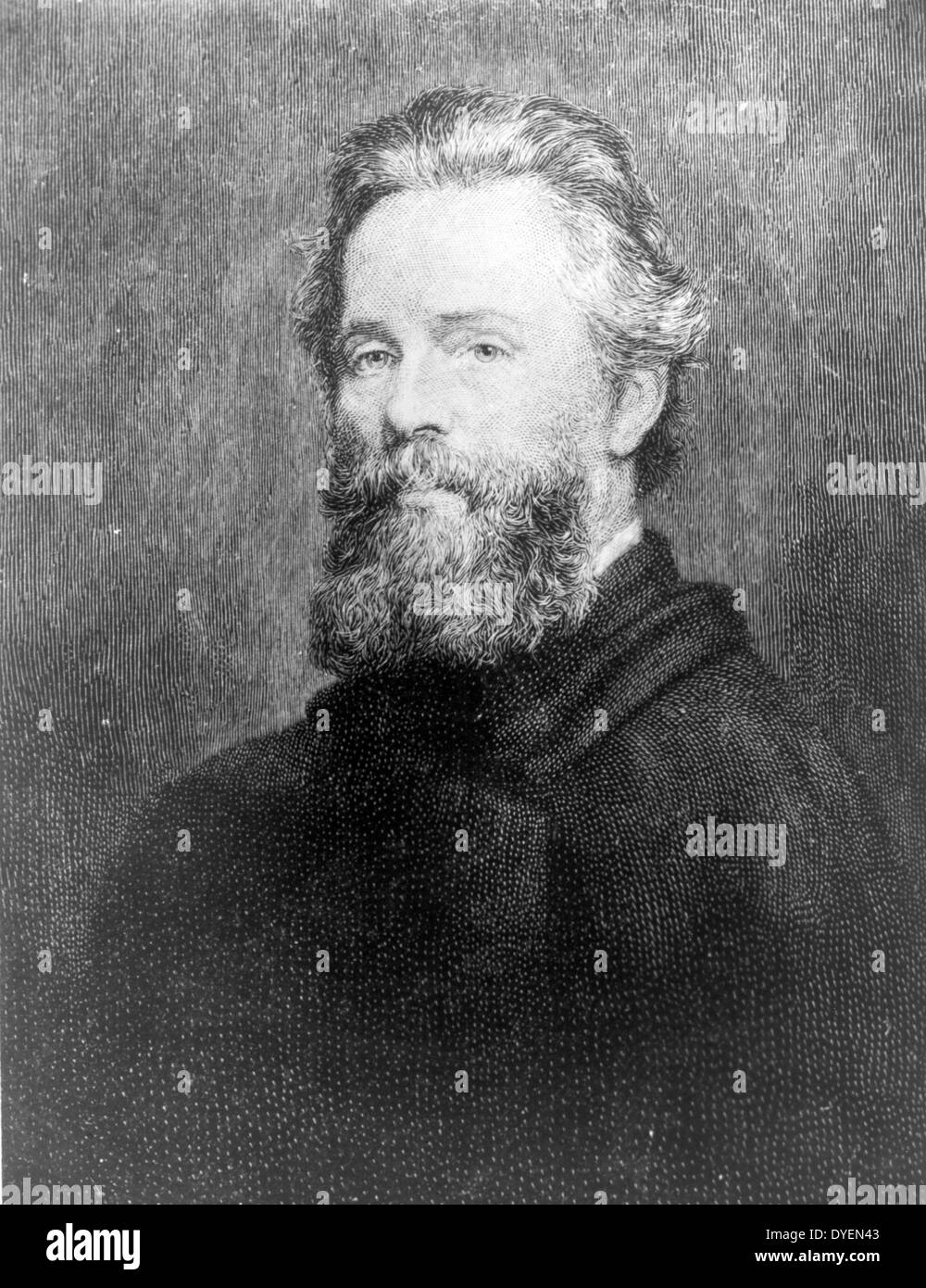 Herman Melville, American author. - Stock Image