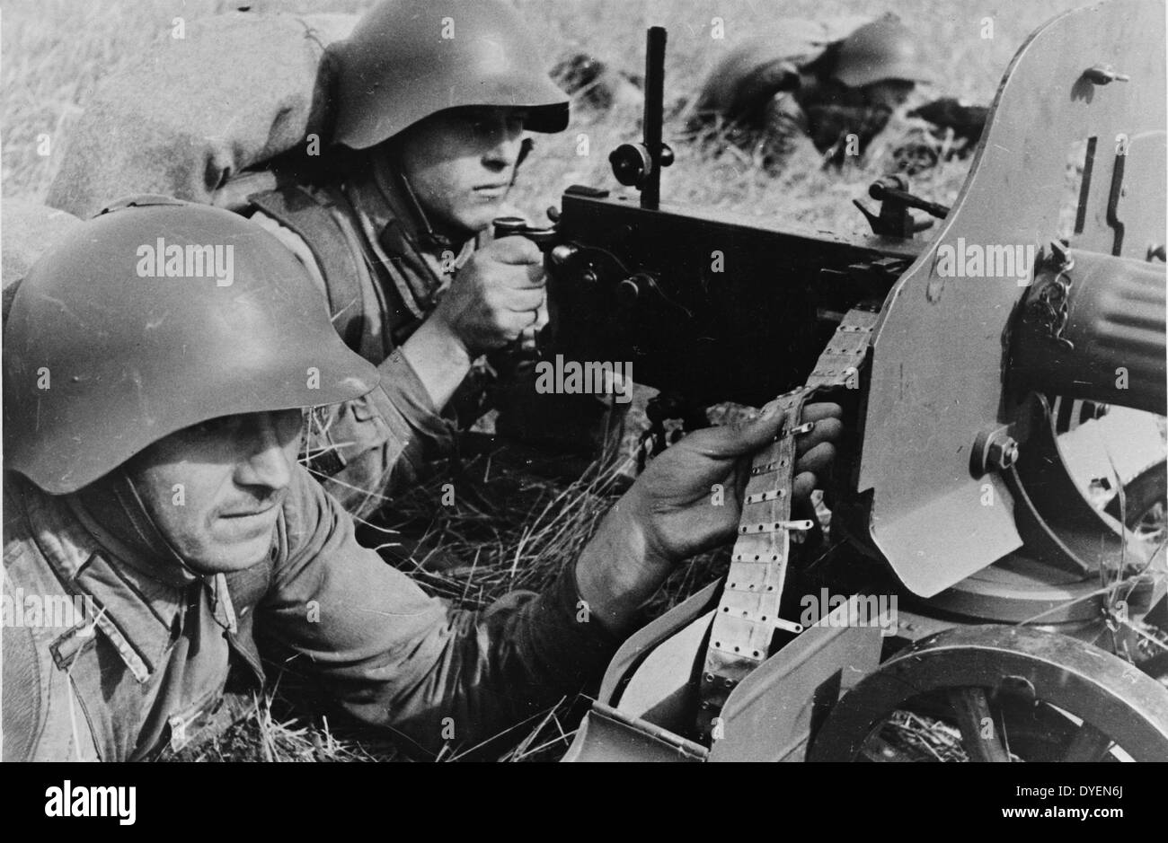 exercises of the Red Army in the far eastern territory - Stock Image