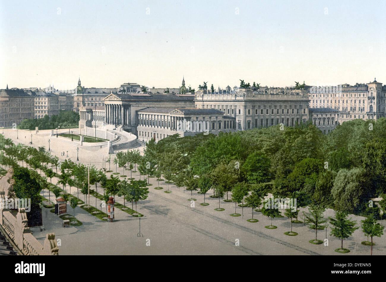 Parliament, Vienna, Austro-Hungary 1900 - Stock Image