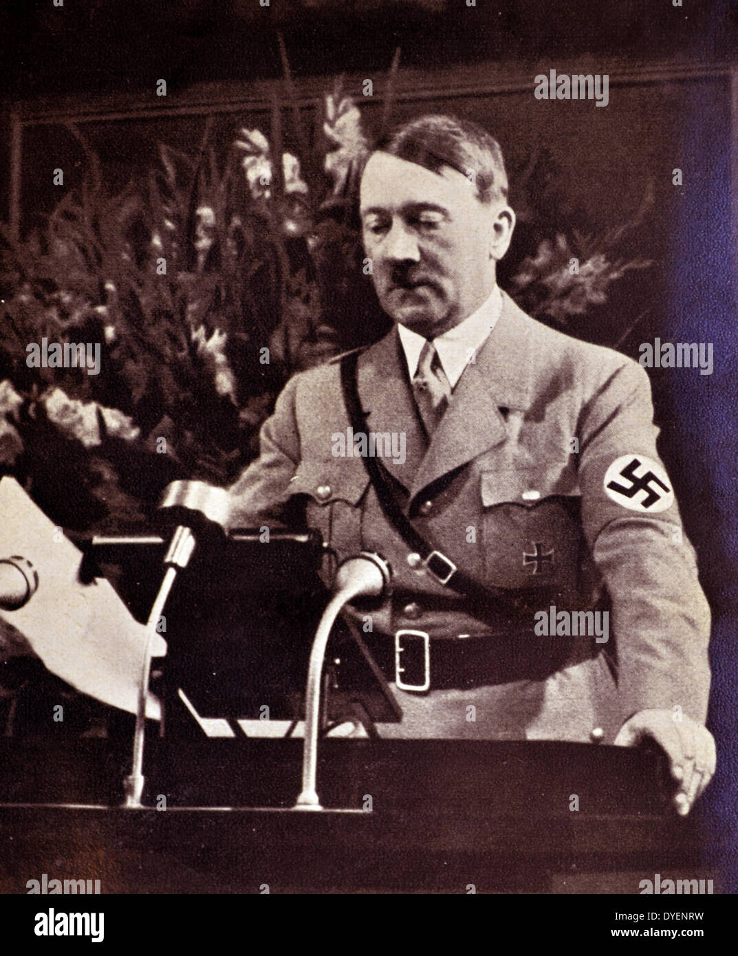 Adolf Hitler 1889-1945. German politician and the leader of the Nazi Party. - Stock Image