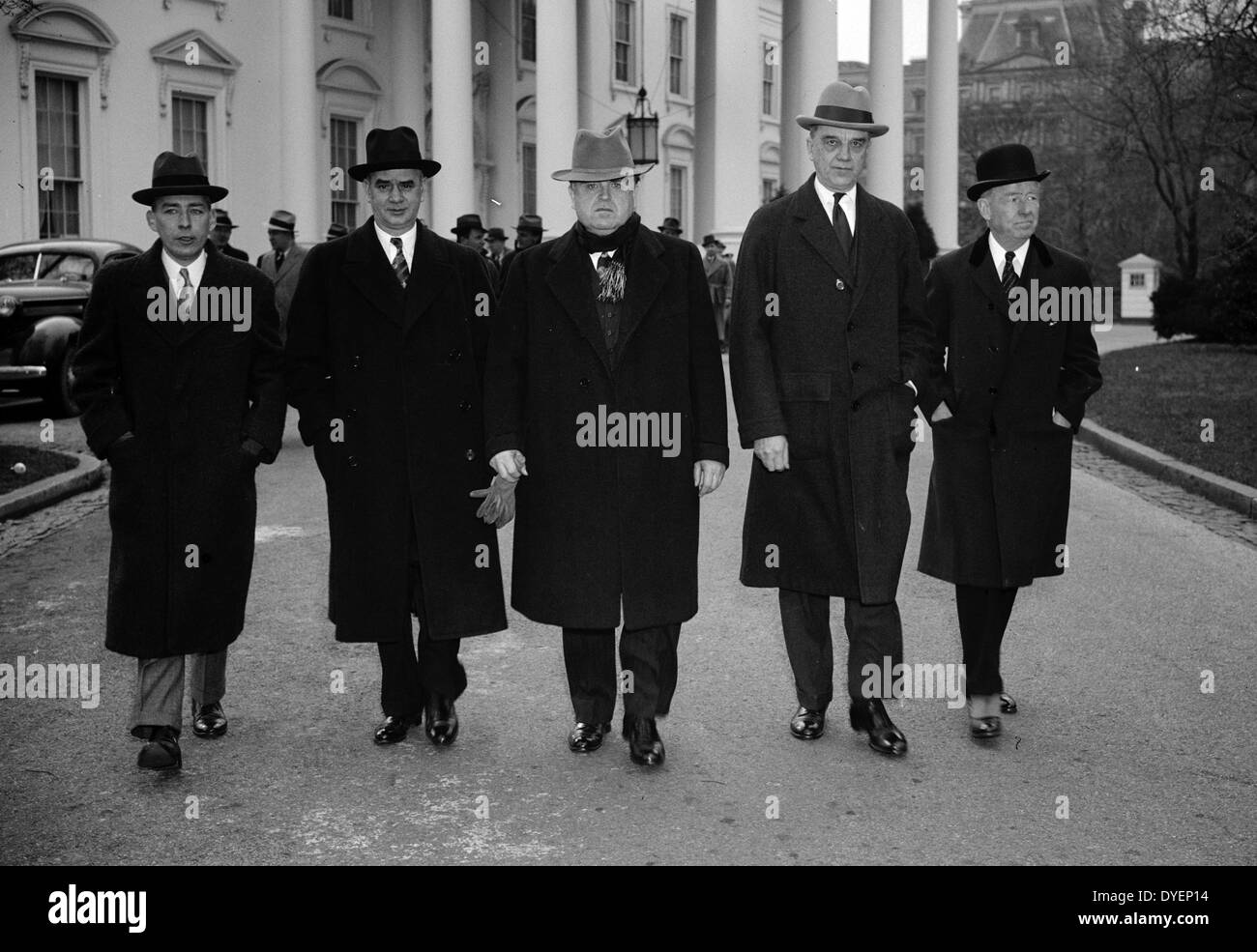 Capital and Labour leaders at White House. Washington, D.C., 19400101 - Stock Image