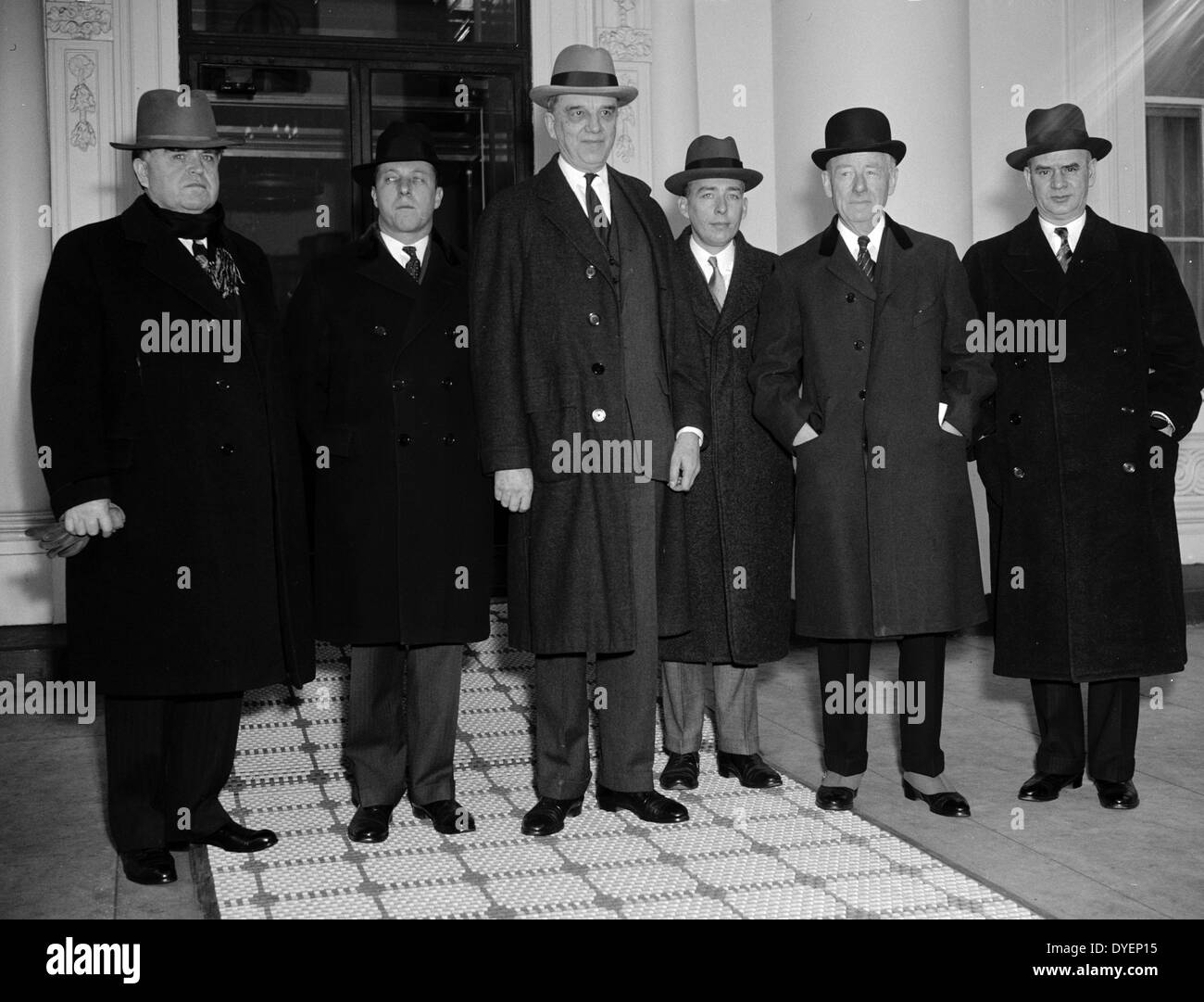 Capital and Labour leaders at White House. Washington, D.C., 19380101 - Stock Image