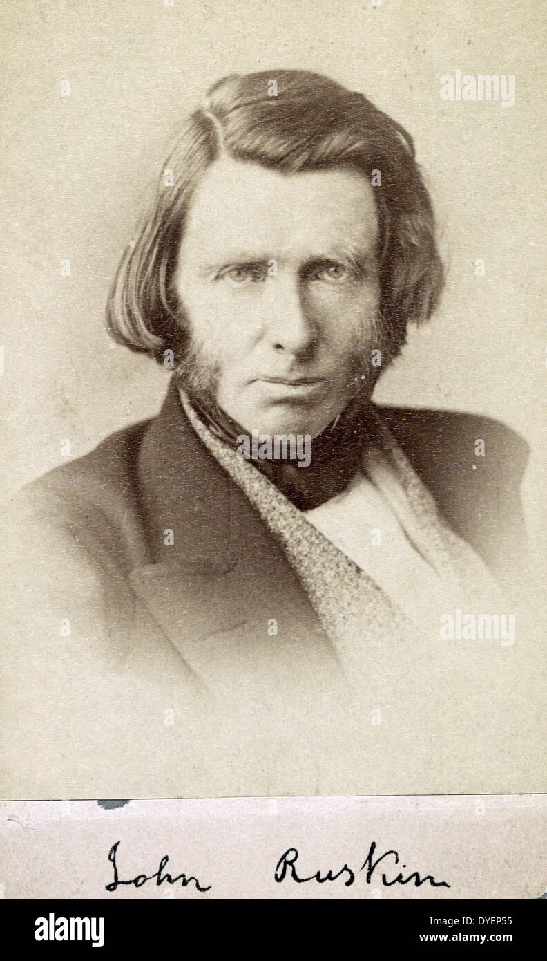 John Ruskin 1819-1900. Author photographed between 1863 and 1870 - Stock Image