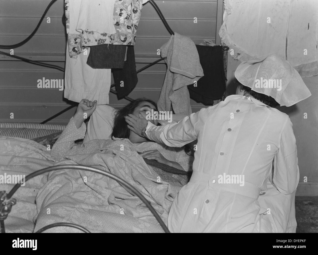 Medical Camp Black and White Stock Photos & Images - Alamy