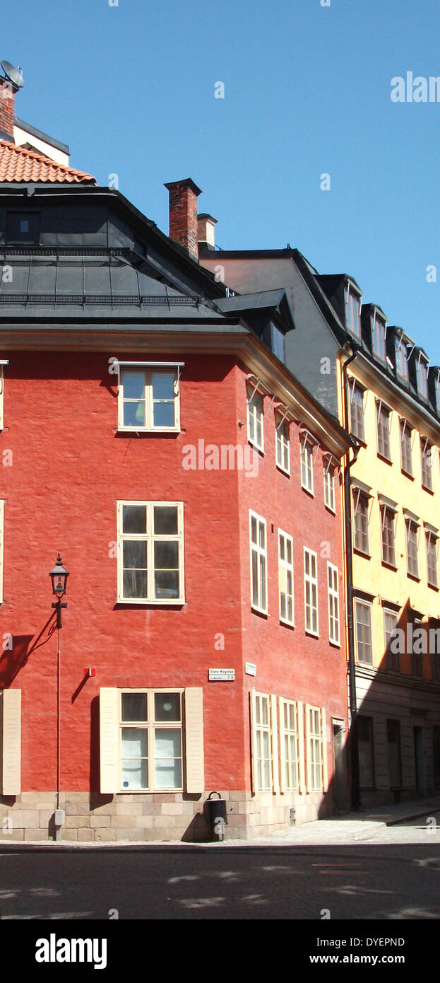 Gamla stan (The Old Town), of Stockholm, Sweden. - Stock Image