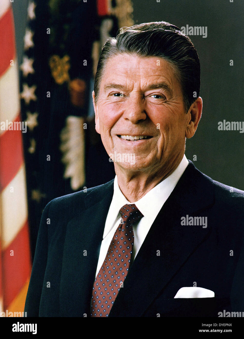 Ronald Reagan 1911-2004. 40th President of the United States. 1981-1989. - Stock Image