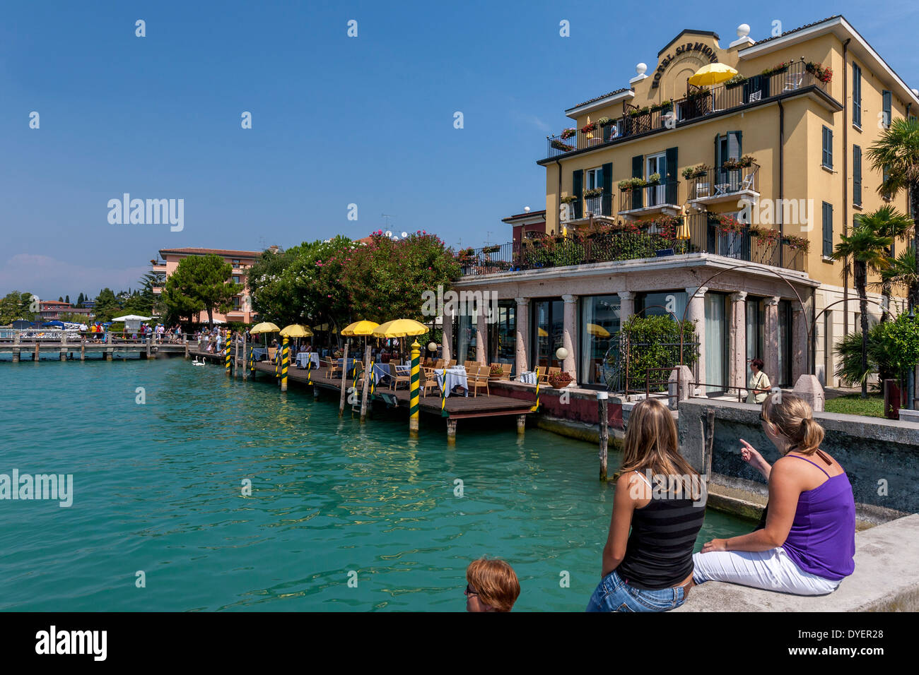 Hotel sirmione sirmione lake garda italy stock photo Color hotel italy
