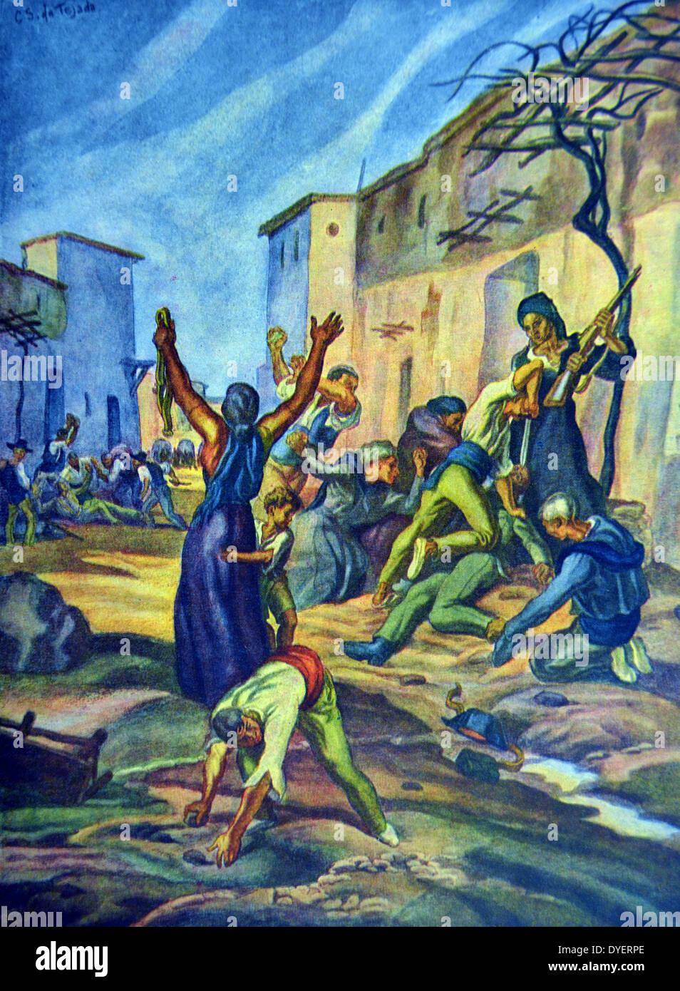 Spanish civil war: Castilblanco - Stock Image