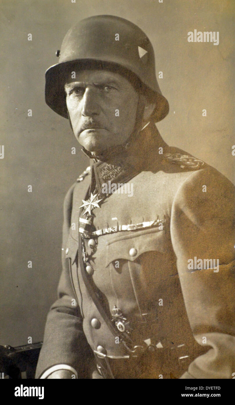 Franz Xaver Ritter von Epp (16 October 1868 – 31 December 1946) officer in the Imperial German Army of the early part of the - Stock Image