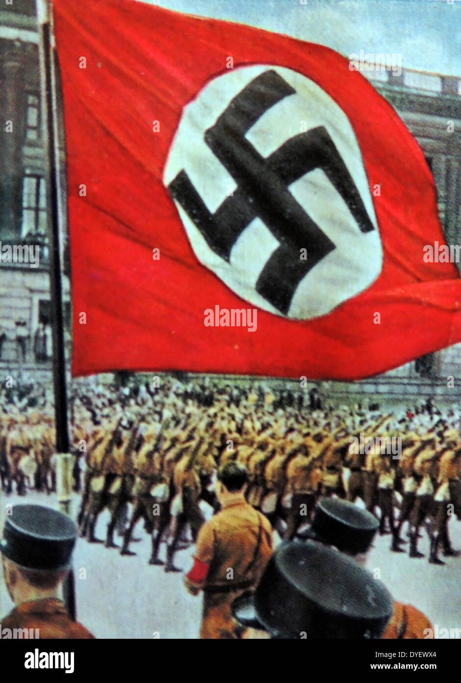 Brunswick Nazi rally circa 1933 - Stock Image