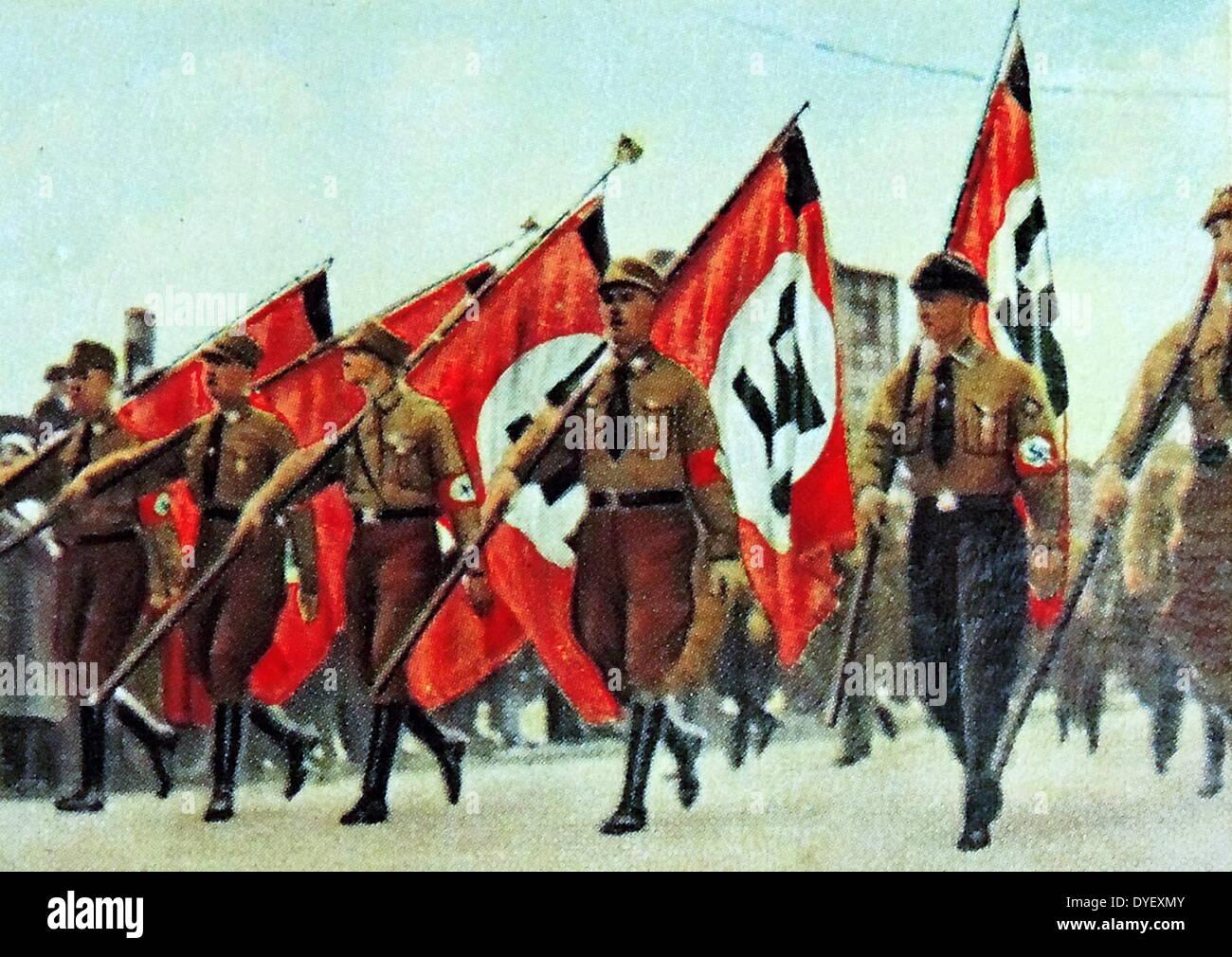 Nazi rally in Berlin circa 1933 - Stock Image