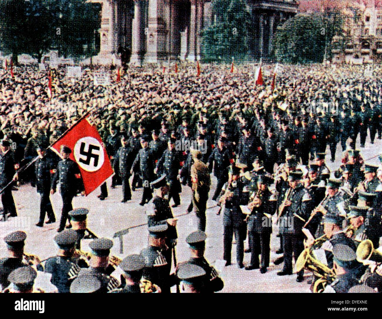 Nazi march in 1930-33 - Stock Image