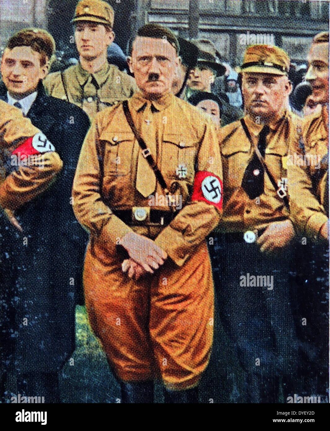 Adolf Hitler in Brunswick 1931 - Stock Image