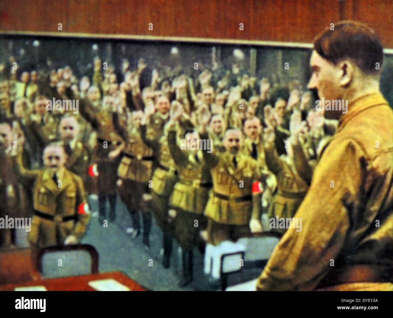Adolf Hitler addressing the Reichstag or German Parliament circa 1933-34 - Stock Image