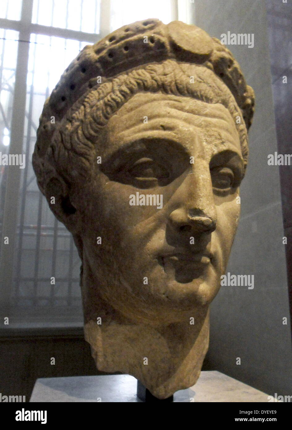 Marble sculpted head of The Emperor Claudius - Stock Image