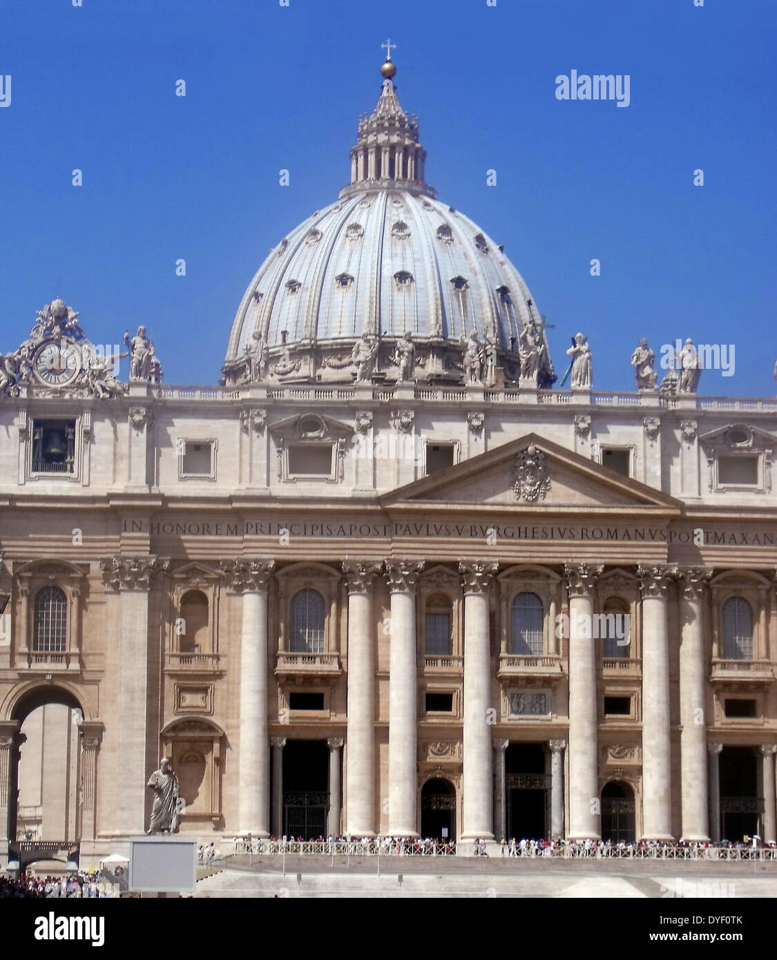 St. Peter's Basilica in the Vatican City, Italy. - Stock Image