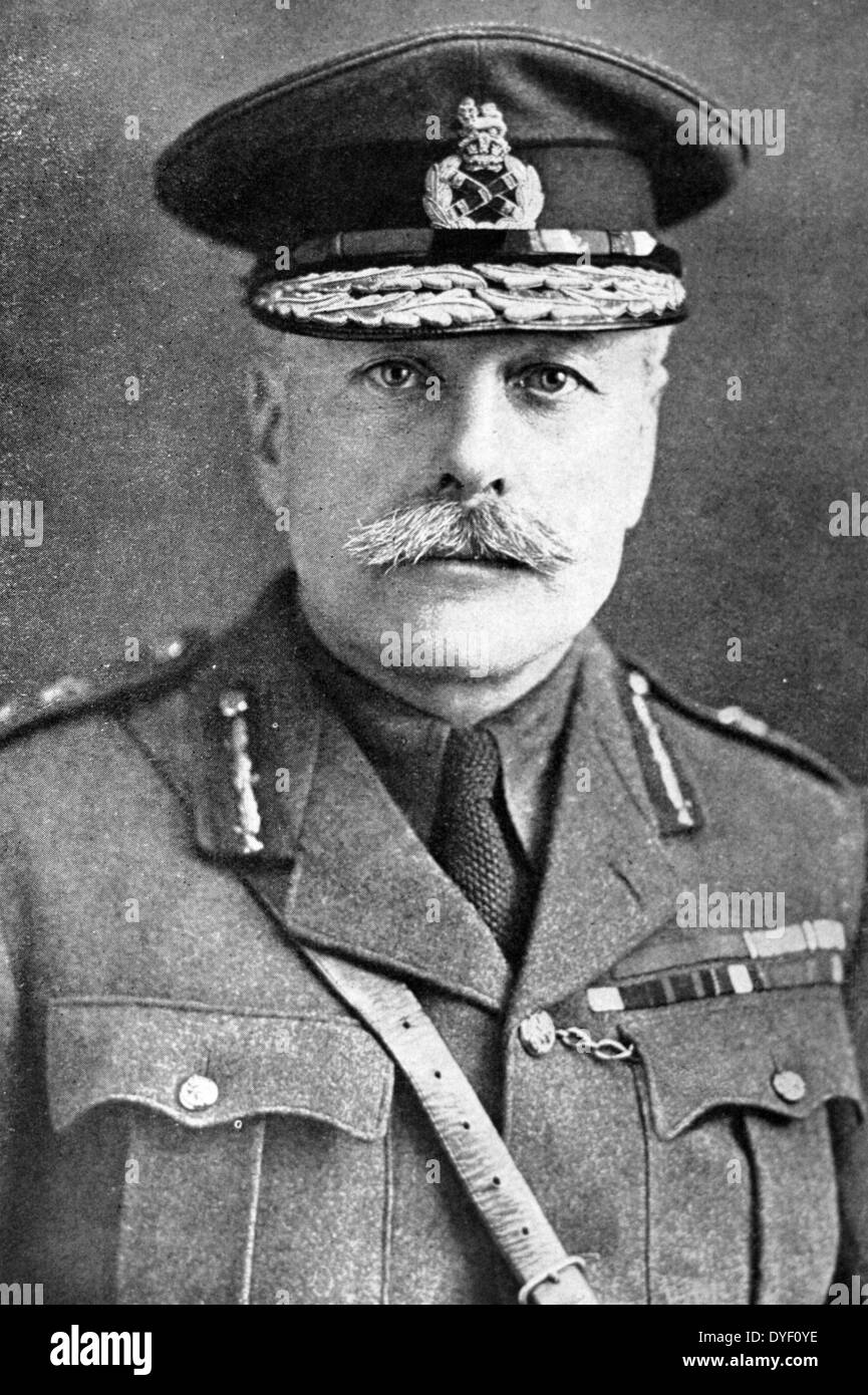 Portrait photograph of Field Marshal Douglas Haig, 1st Earl Haig of Bemersyde. - Stock Image