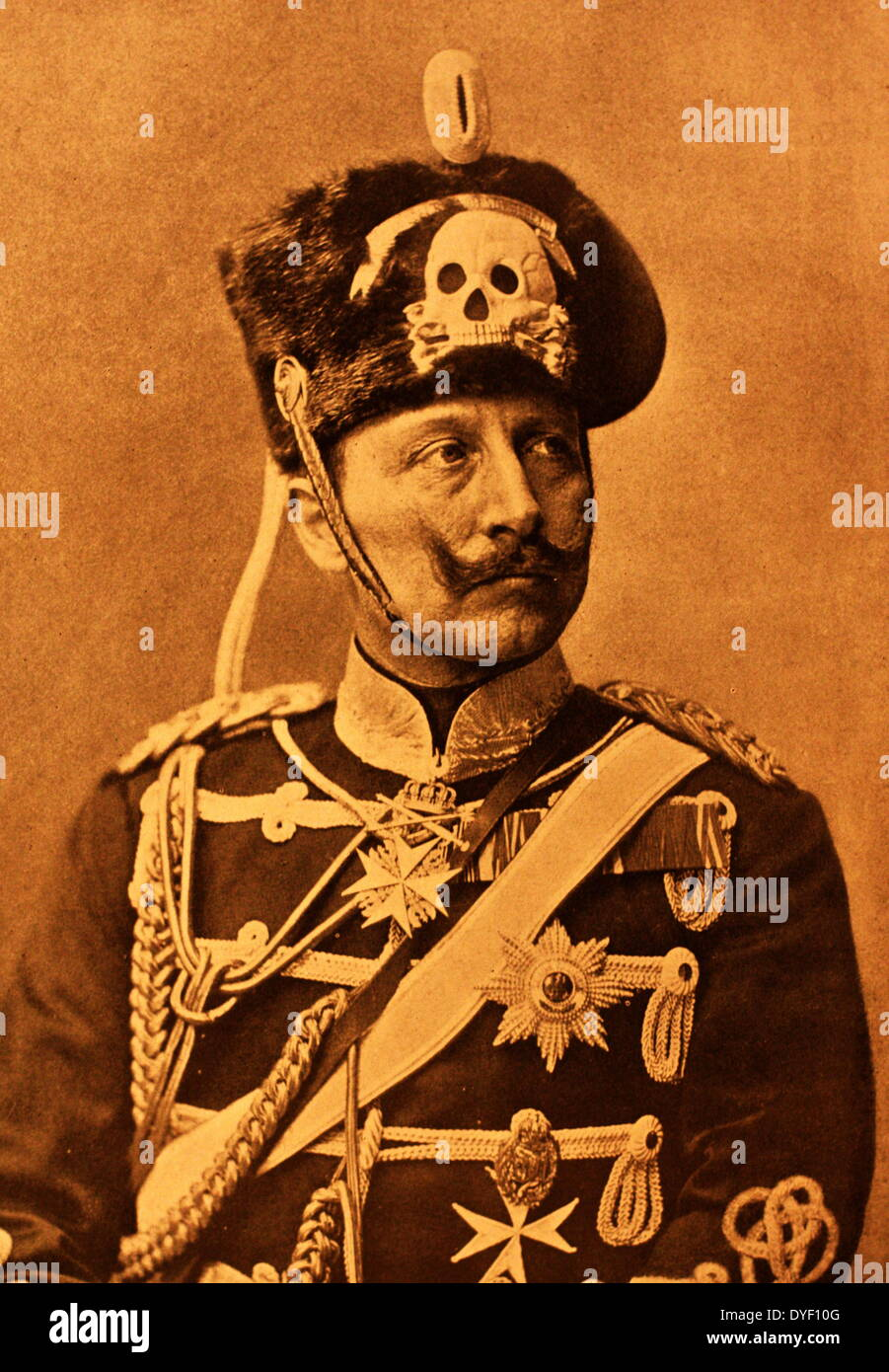 Portrait photograph of Kaiser Wilhelm III, (Frederick William Victor Albert of Prussia). - Stock Image