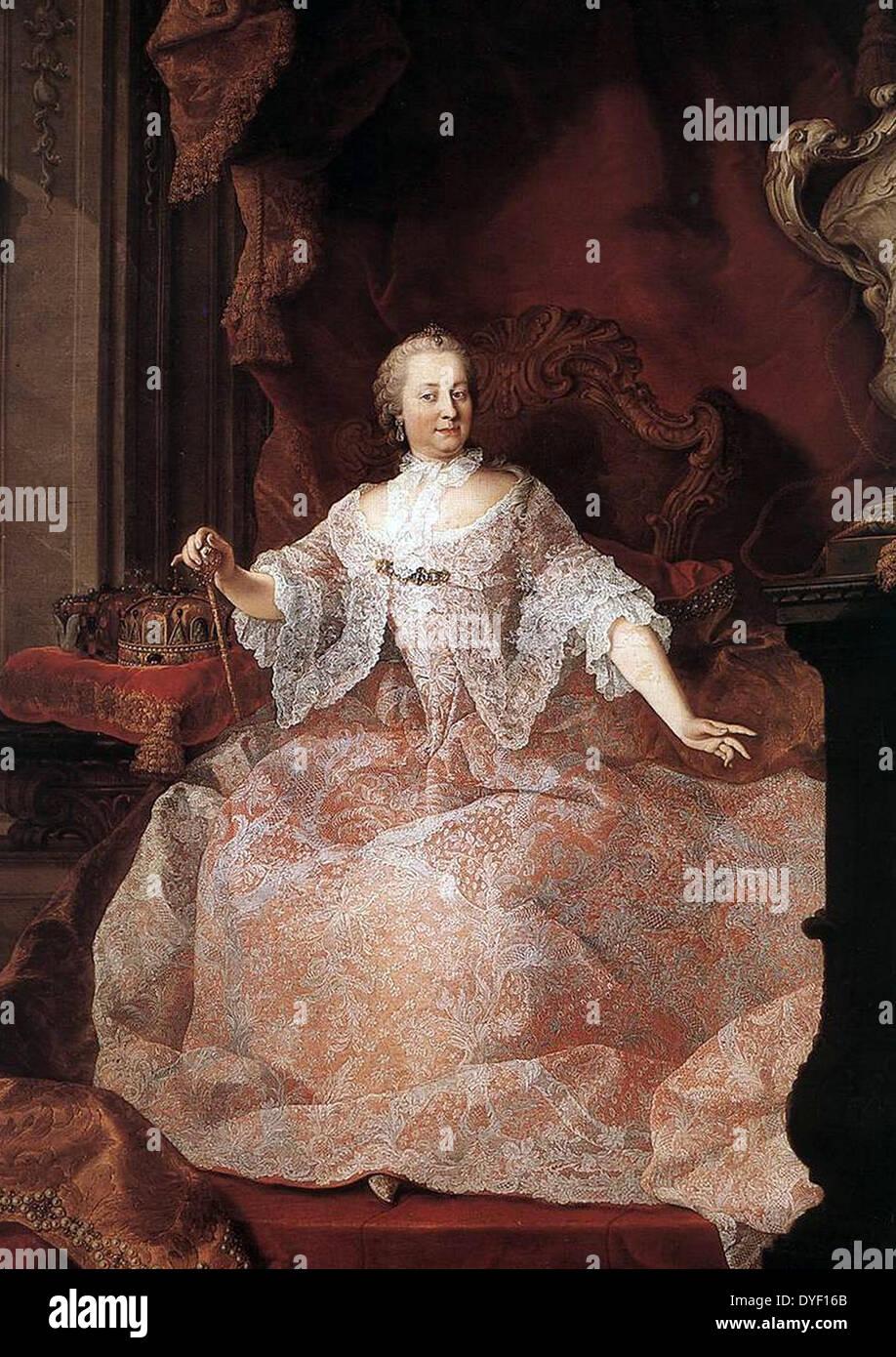 Empress Maria Theresa of Austria - Stock Image