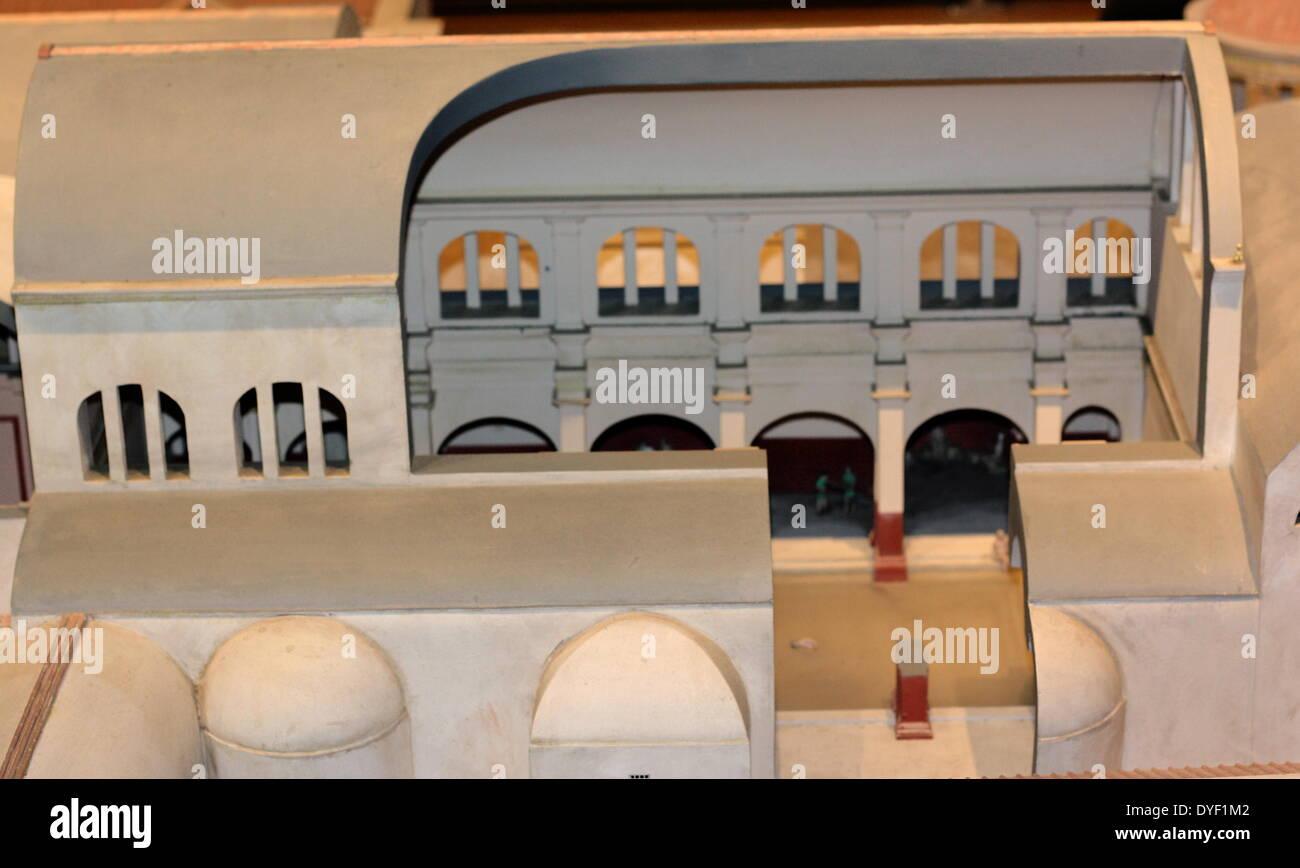 Reconstruction of Sulis Minerva baths. - Stock Image