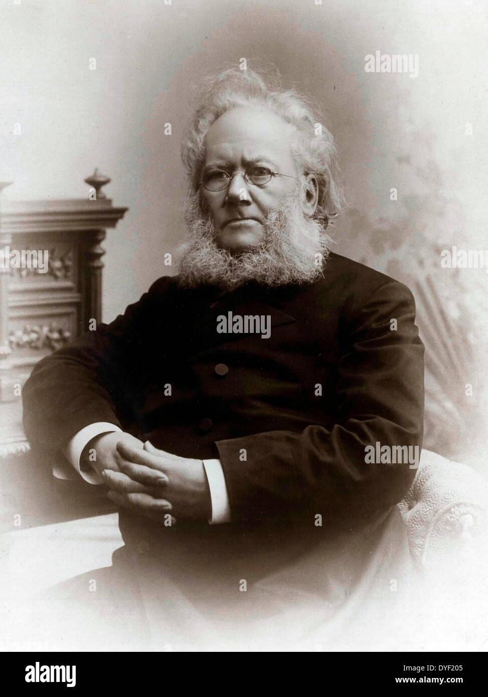 Photograph of Henrik Johan Ibsen, 19th-century Norwegian playwright, poet, and theatre director. - Stock Image