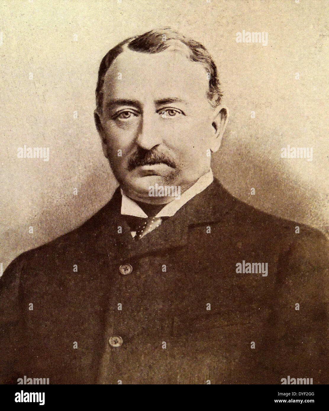 Cecil John Rhodes, English businessman, mining magnate, and politician in South Africa. - Stock Image