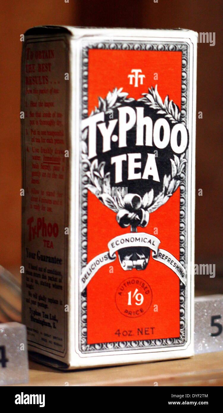 Vintage box of Typhoo tea. - Stock Image