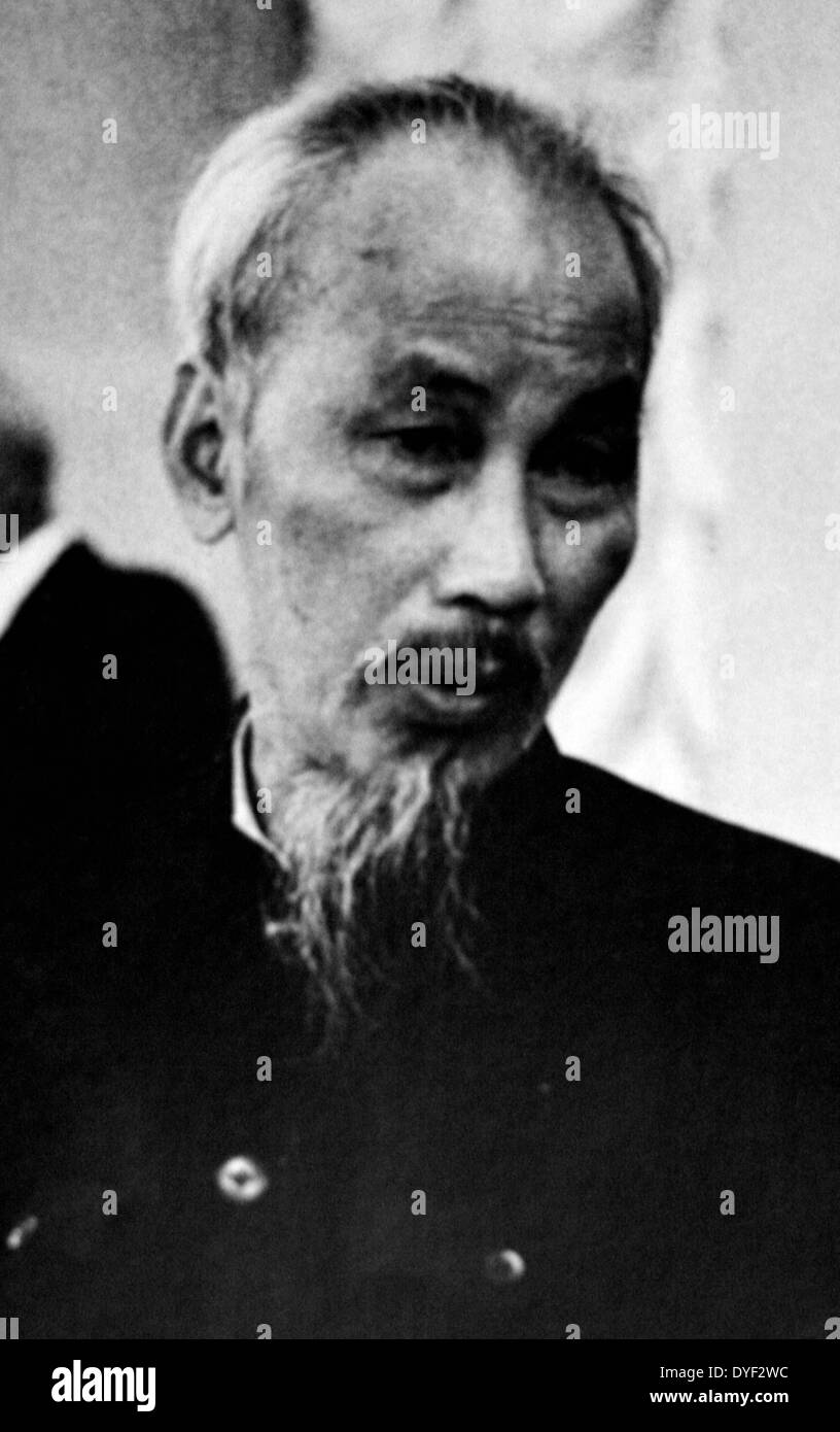 A photograph of Ho Chi Minh (Nguyen Ai Quoc ). - Stock Image