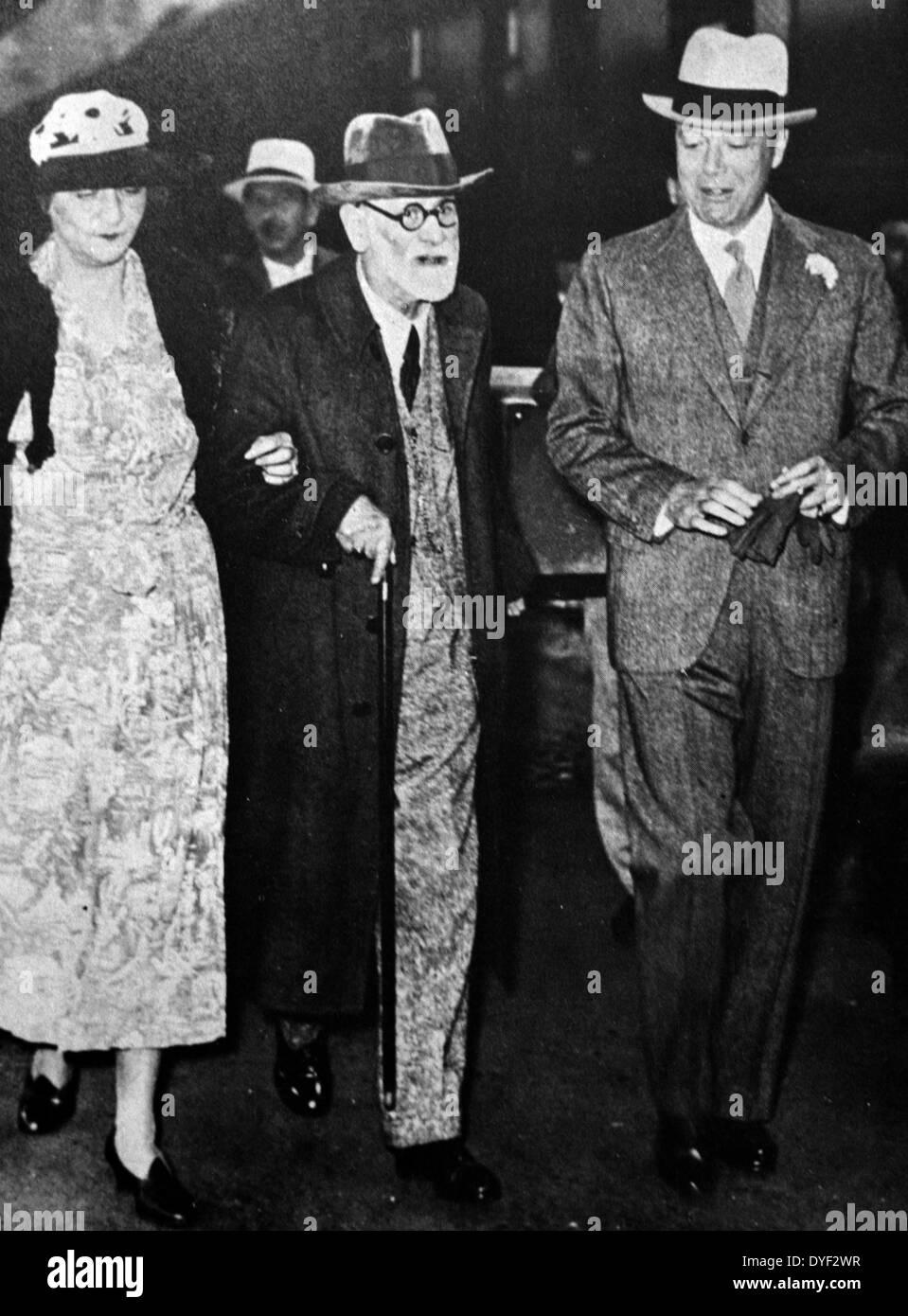 Photograph of Sigmund Freud, an Austrian neurologist - Stock Image