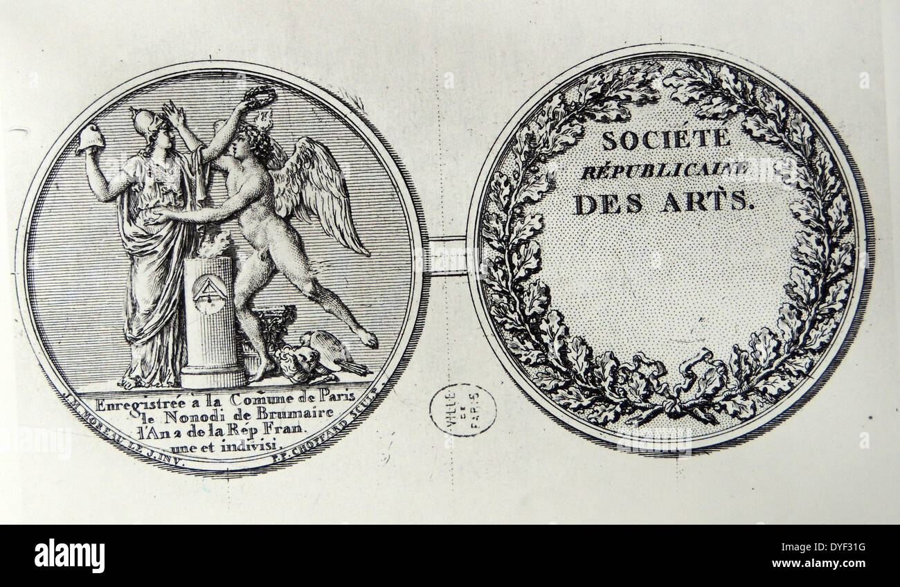 Seal of the Republican Society for the Arts - Stock Image